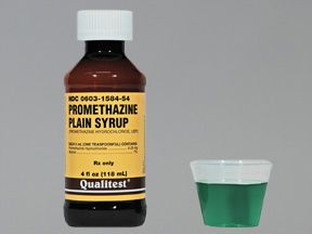 Side effects and interactions of promethazine with other substances